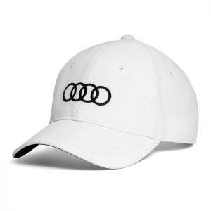 Бейсболка унисекс Audi Rings, White