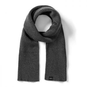 Вязаный шарф унисекс Audi, Grey