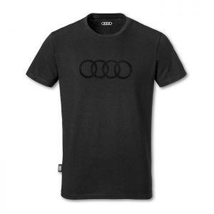 Мужская футболка Audi Rings, Black