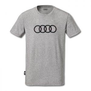 Мужская футболка Audi Rings, Grey