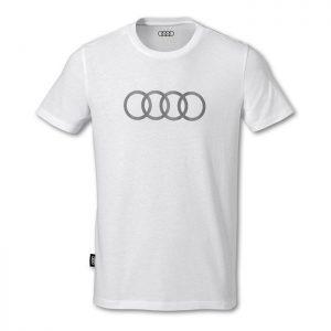 Мужская футболка Audi Rings, White