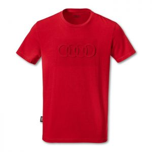 Мужская футболка Audi Rings, Red