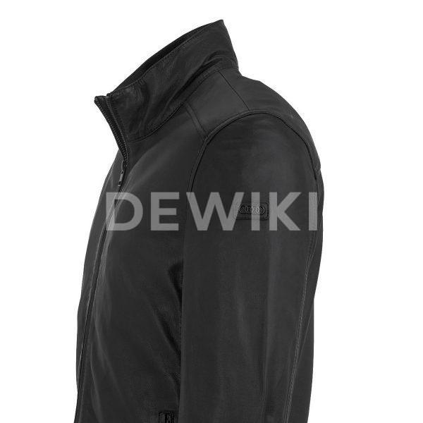 Мужская кожаная куртка Audi, Black