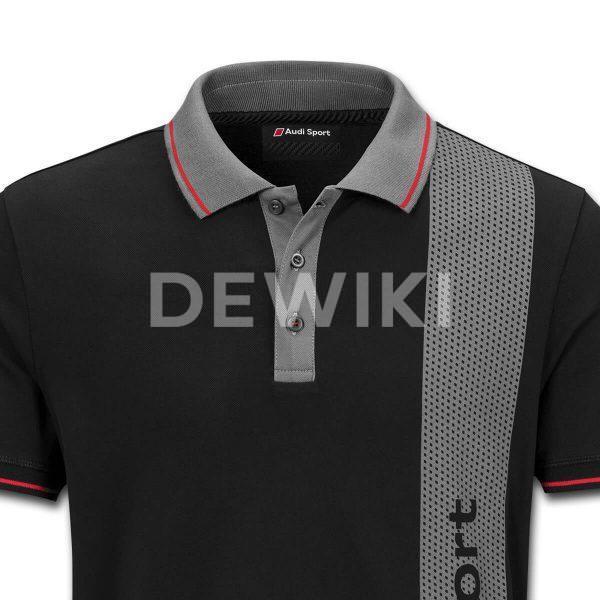 Мужская рубашка-поло Audi Sport, Black/Grey