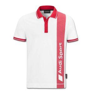 Мужская рубашка-поло Audi Sport, White/Red