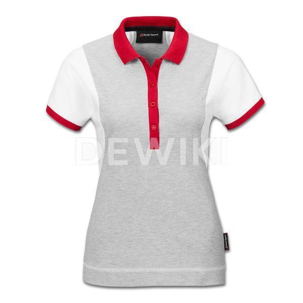Женская рубашка поло Audi Sport, White / Grey