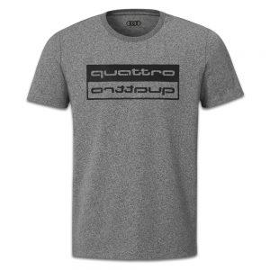 Мужская футболка Audi quattro 2019, Grey