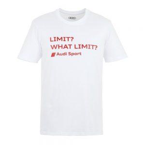 Мужская футболка Audi, Limit? What a Limit?, White
