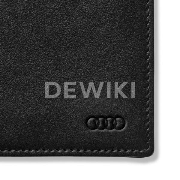 Мужской кожаный мини-кошелек Audi
