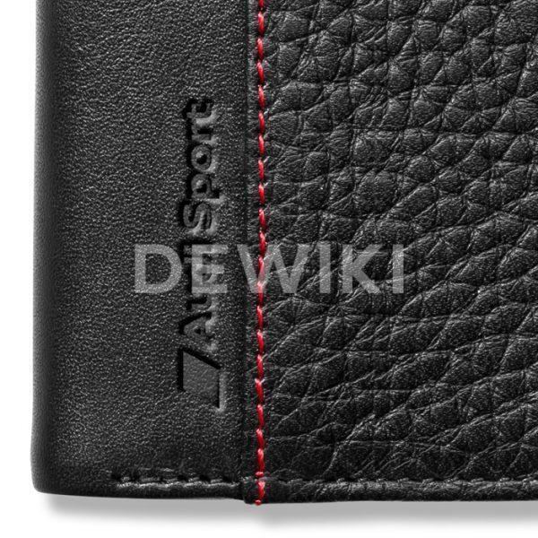 Малый мужской кожаный кошелек Audi Sport