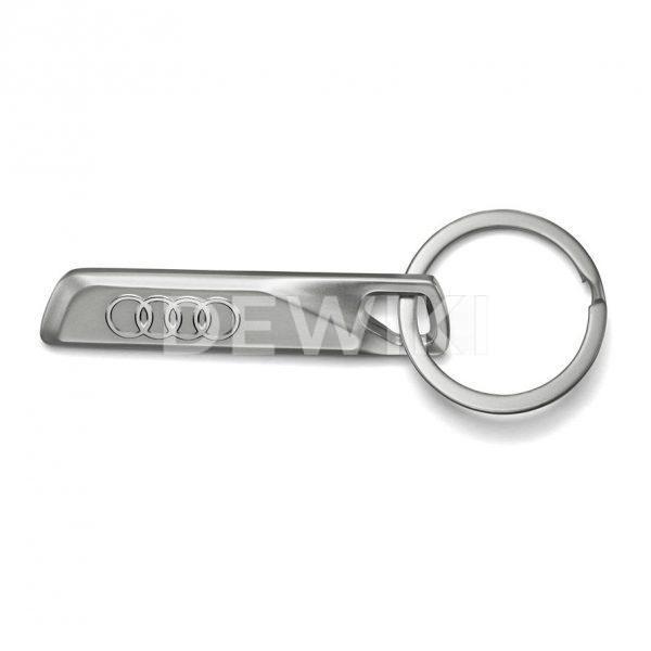 Брелок для ключей из нержавеющей стали с логотипом в виде фирменных колец Audi