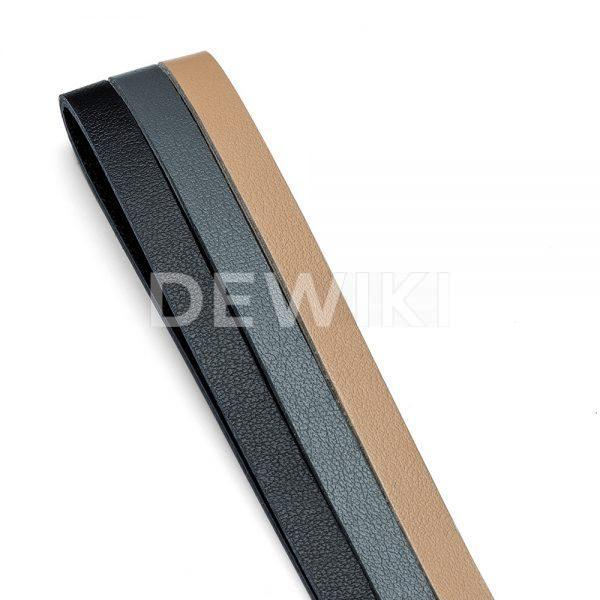 Женский кожаный брелок Audi, Black / Grey / Beige
