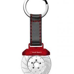 Брелок в виде тормозного диска Audi Sport, Red