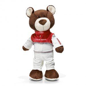 Медведь-автогонщик, 40 см, Audi quattro