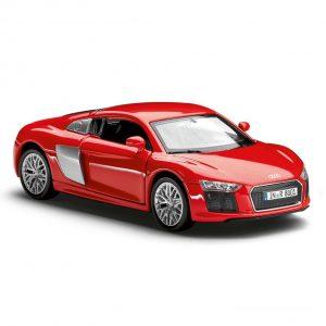 Инерционная модель Audi R8 V10, масштаб 1:38, Red