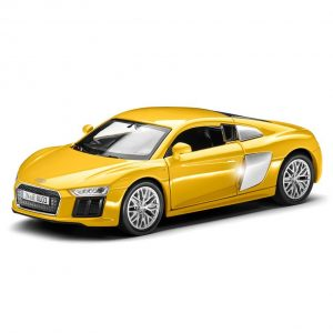 Инерционная модель Audi R8 V10, масштаб 1:38, Yellow