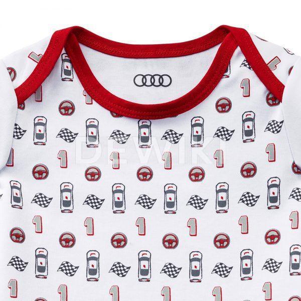 Детское боди Audi Sport, White / Red