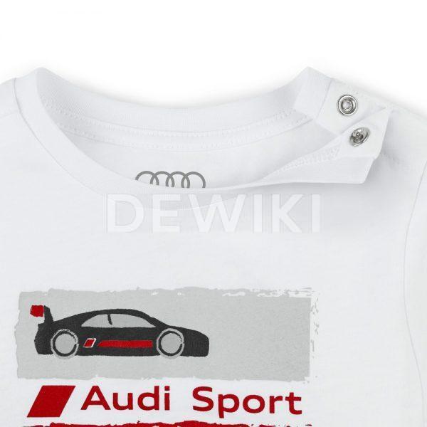 Детский лонгслив Audi Sport, White