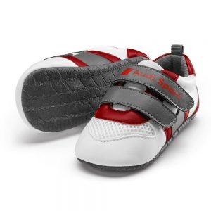 Детская обувь Audi Sport, белый/серый/красный