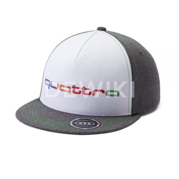 Детская бейсболка Audi quattro, Grey / Green