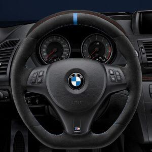 Спортивное рулевое колесо BMW M Performance M3 и M1 Coupe, Алькантара