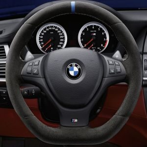 Спортивное рулевое колесо BMW M Performance X5 M и X6 M, Алькантара