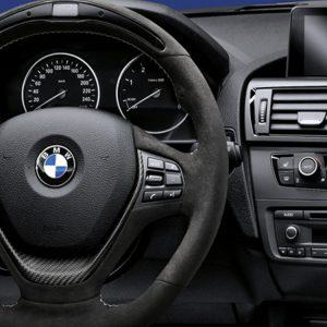 Спортивное рулевое колесо BMW M Performance Race-Display 1,2, 3 и 4 серия, Алькантара с карбоновой вставкой