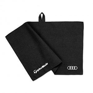 Полотенце для гольфа Audi, микрофибра, Black