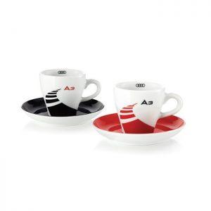 Набор из двух кофейных чашек с блюдцами Audi A3 Espresso
