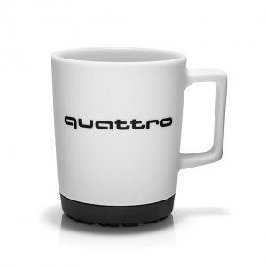 Фарфоровая кружка Audi quattro, White