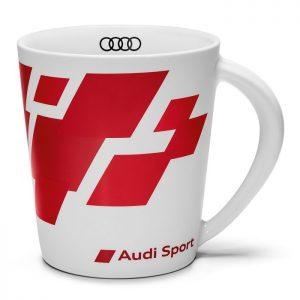 Фарфоровая кружка Audi Sport, White/Red