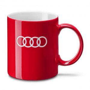 Фарфоровая кружка Audi, Red