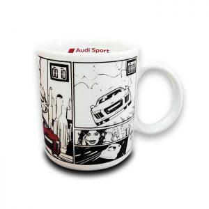 Фарфоровая кружка Audi Sport, R8 Comic Series