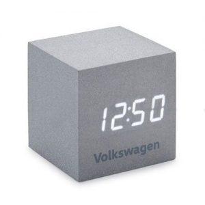 Будильник Volkswagen Logo Cube, Silver