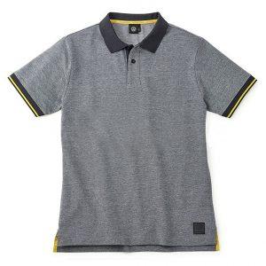 Мужская рубашка-поло Volkswagen, Grey / Black / Yellow