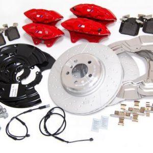 Комплект для дооборудования спортивными тормозами BMW M Performance F20/F30/F32/F36, красный
