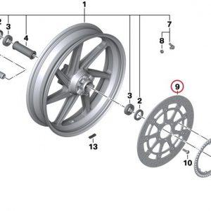 Тормозной диск D=320-5,0MM с заклепками BMW S 1000 R / RR / XR / HP4 2009-2019 год