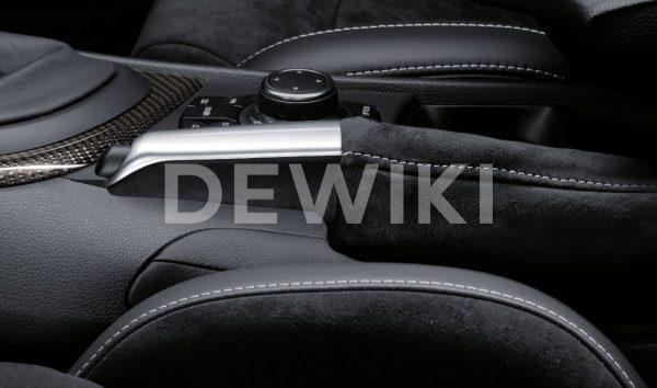Ручка рычага стояночного тормоза с чехлом из алькантары BMW M Performance 3 серия, E-кузов