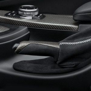 Ручка рычага стояночного тормоза из карбона и чехол из алькантары BMW M Performance F21/F20/F23/F22 1 и 2 серия
