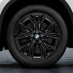 Комплект летних колес в сборе R18 BMW  F48/F49/F39 Y-Spoke 566 Black, Bridgestone Turanza T001 RFT, RunFlat