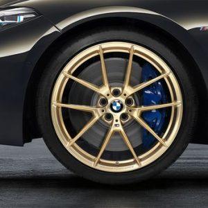 Комплект летних колес в сборе R19 BMW M2 F87 Y-Spoke 763 М Performance Frozen Gold, Michelin Pilot Sport Cup 2
