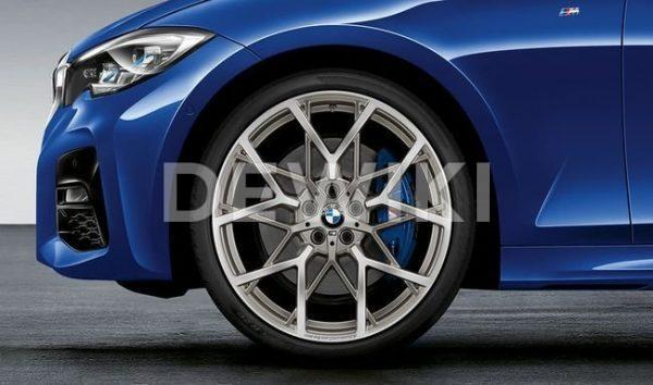 Комплект летних колес в сборе R20 BMW G20 Y-Spoke 795M Performance Ferricgrey, Pirelli P Zero, RDC, Runflat