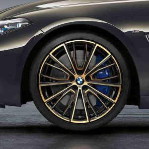 Комплект летних колес в сборе R20 BMW G14/G15/G30/G31 Multi Spoke 732 M Performance Gold, Pirelli P Zero  MOE RSC, RunFlat