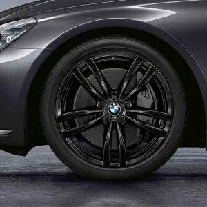 Комплект летних колес в сборе R19 BMW  G32/G11/G12 Double Spoke 647 M Black , Pirelli Cinturato P7, RDC, Runflat