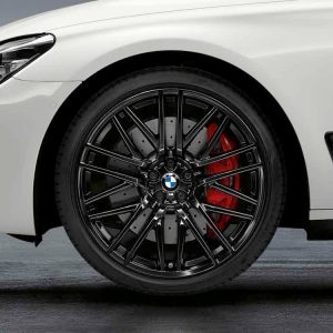Комплект летних колес в сборе R21 BMW G32/G11/G12 Double Spoke 650 M Performance Black, Pirelli P Zero r-f, RDC, Runflat