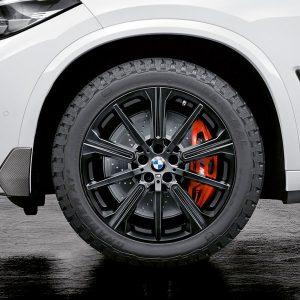 Комплект летних колес в сборе R22 BMW G05 Star Spoke 749 M Performance Black Matt, Pirelli P Zero  RSC, RunFlat
