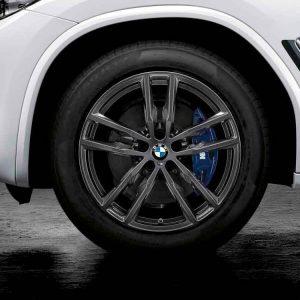 Зимнее колесо R19 BMW G01/G02, Double Spoke 698M , Bridgestone Blizzak LM001 RunFlat