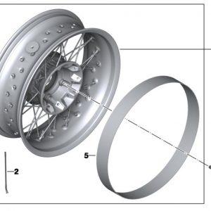 Колесный болт М10х53 для спицованных колес BMW R nineT / R 1200 R / GS / Adventure 2005-2019 год