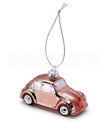 Елочная игрушка Volkswagen Beetle, Copper
