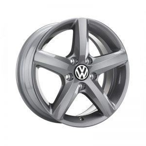 Диск литой R16 Volkswagen, Aspen Grey Metallic, 6,5J x 16 ET42